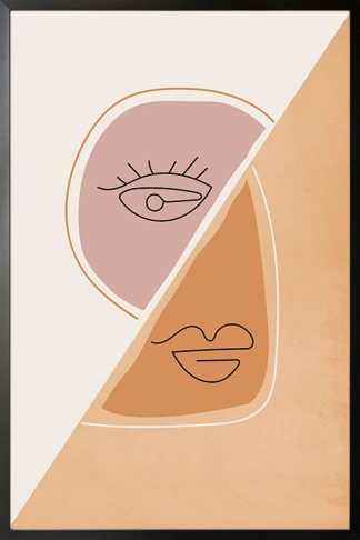 Shapes and faces 4 Poster