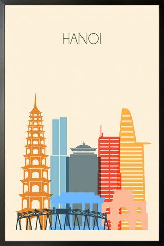 Hanoi skyline poster Poster