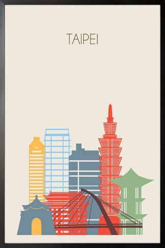 Taipei skyline poster Poster