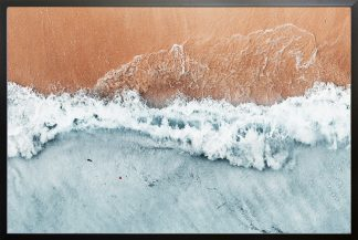 Waves and sand from top Poster