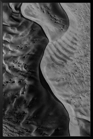 Desert texture B&W Poster