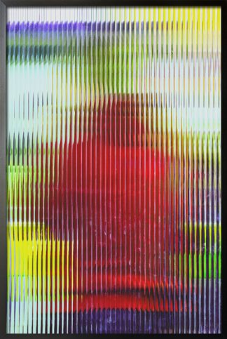 Glass vertical effect poster