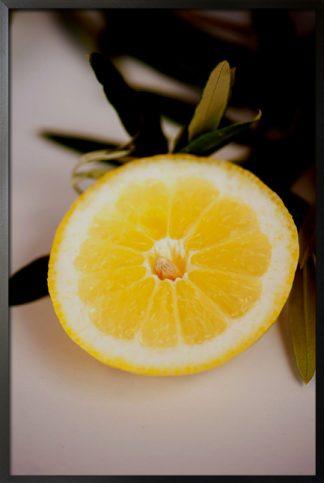 Half aesthetic lemon photo poster