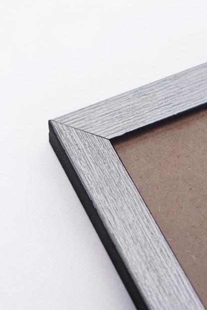 Silver frame close up