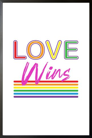 Love wins lines Poster