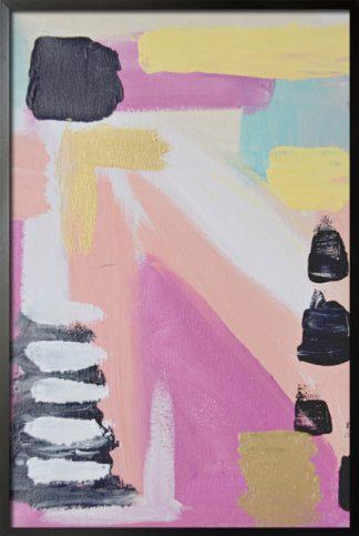 Light colors brush stroke poster