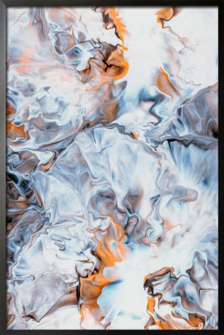 Messy abstract art poster