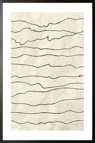 Black and beige art poster