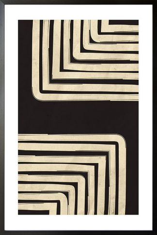 Black and beige art 11 poster