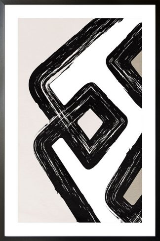 Brush stroke and shape no. 1 poster