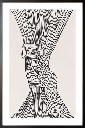 Abstract doodle lines poster