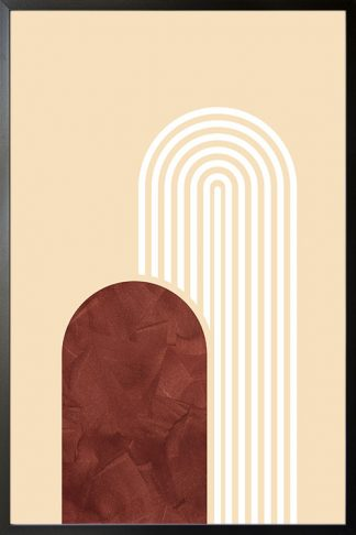 Graphical art line solid shape texture poster