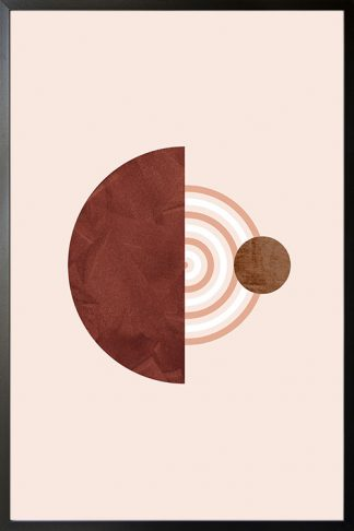 Graphical art line solid half circle texture poster
