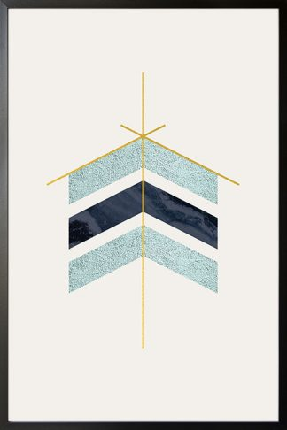 Geometric art arrow with texture poster
