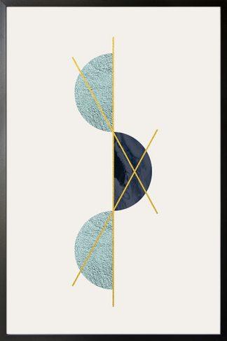 Geometric art half circle with texture poster