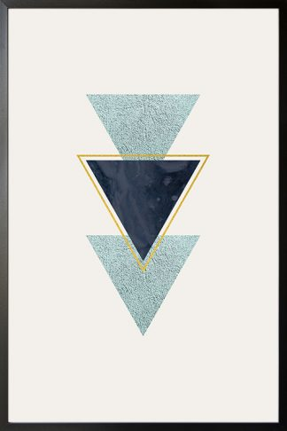 Geometric art triangle with texture poster