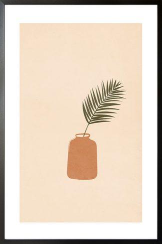 Grunge texture plant on bottle vase poster