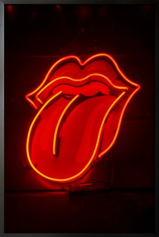 Neon Rolling stone sign poster