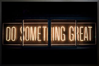 Neon Do something great poster