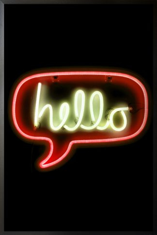 Neon hello sign poster