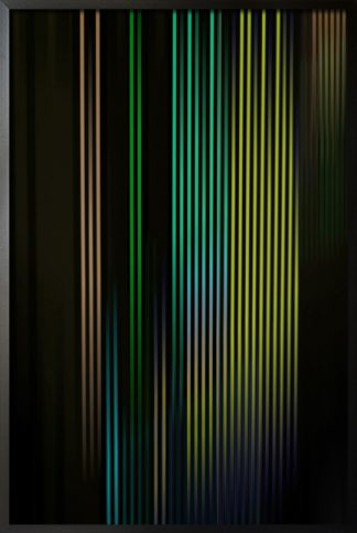 Neon vertical shade green color poster