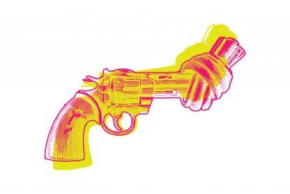 Non violence gun more effect poster