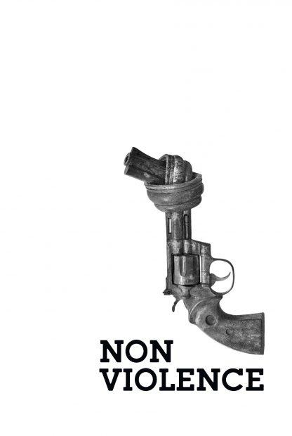 Non violence gun aesthetic poster
