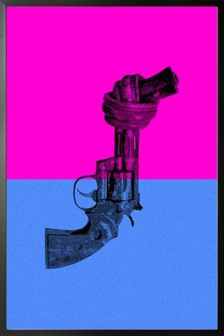 Non violence pop art feeling poster