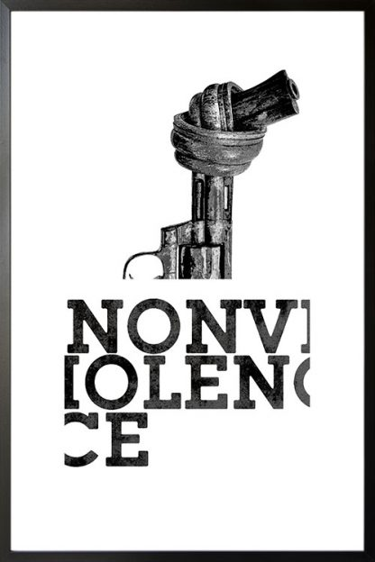 Non violence gun and typography poster
