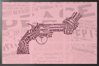 Non violence typography art poster