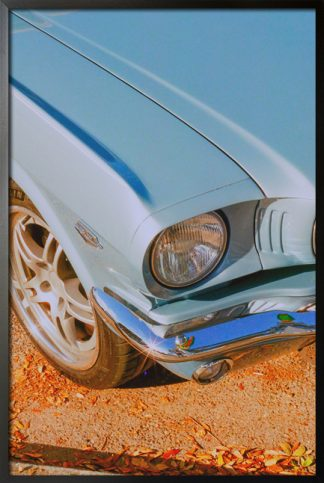 Vintage car aesthetic photo poster