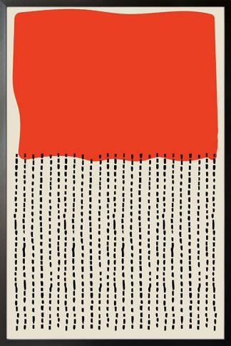 Modern abstract Orange black poster