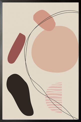 Shade of pink art shapes no. 6 poster