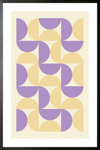 Violet tone half circle poster