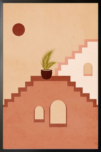 Stairs, walls and window no. 1 poster