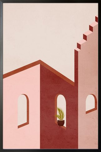 Stairs, walls and window no. 2 poster