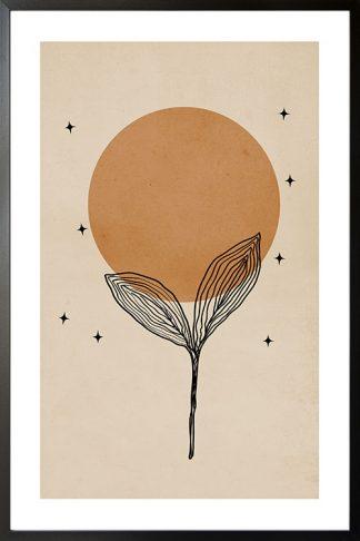 Botanical boho art poster