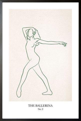 Ballerina line art 2 poster