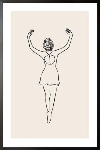 Ballerina line art 3 poster