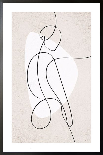 Abstract figure of a women and shape poster