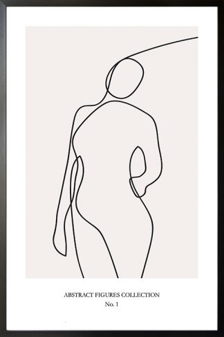 Abstract figure Collection no 1 poster