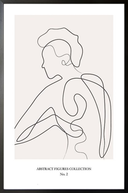 Abstract figure Collection no 2 poster