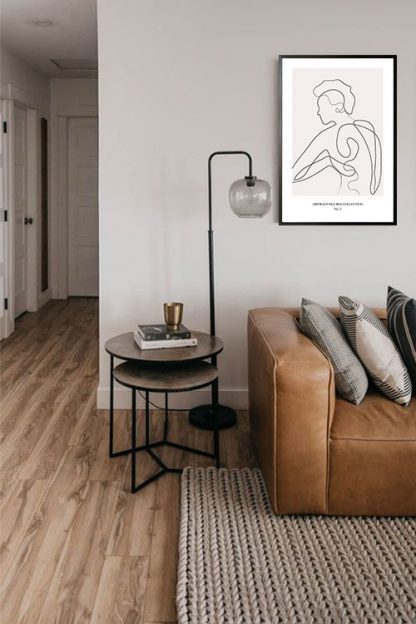 Abstract figure Collection no 2 poster in interior