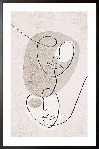 Abstract 2 face figure poster