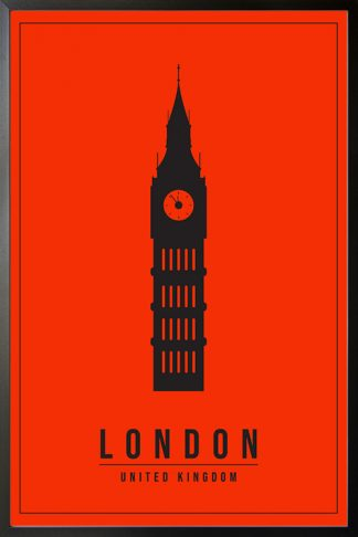 Minimal London United kingdom poster