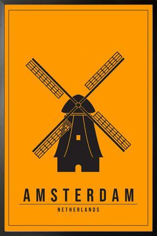 Minimal Amsterdam netherlands poster