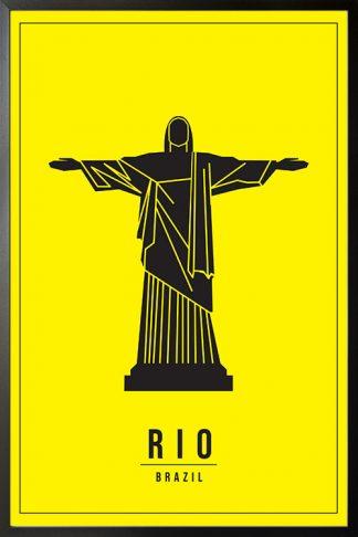 Minimal Rio Brazil poster