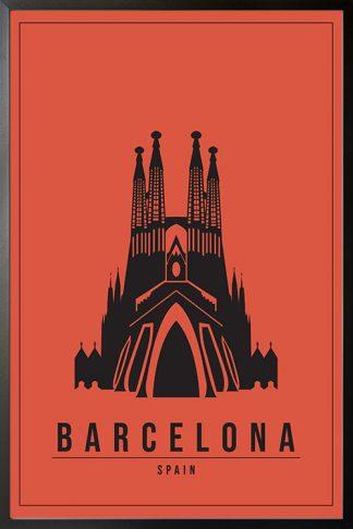 Minimal Barcelona Spain poster