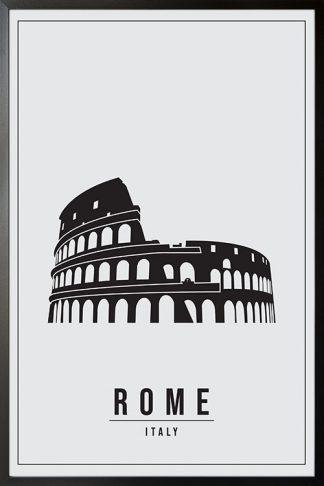 Minimal Rome Italy poster