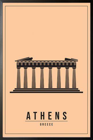 Minimal Athen Greece poster
